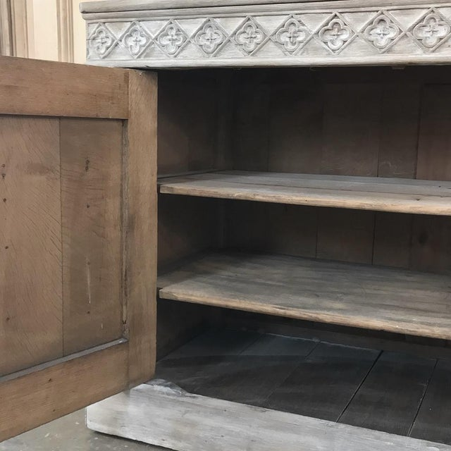 19th Century French Gothic Whitewashed Bookcase For Sale - Image 9 of 13