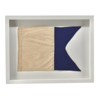 "Framed Real Signal Flag ""A"" For Sale"