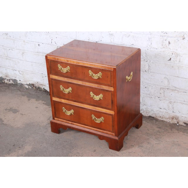Baker Furniture Company Baker Furniture Chippendale Fruitwood Chest of Drawers or Commode For Sale - Image 4 of 13