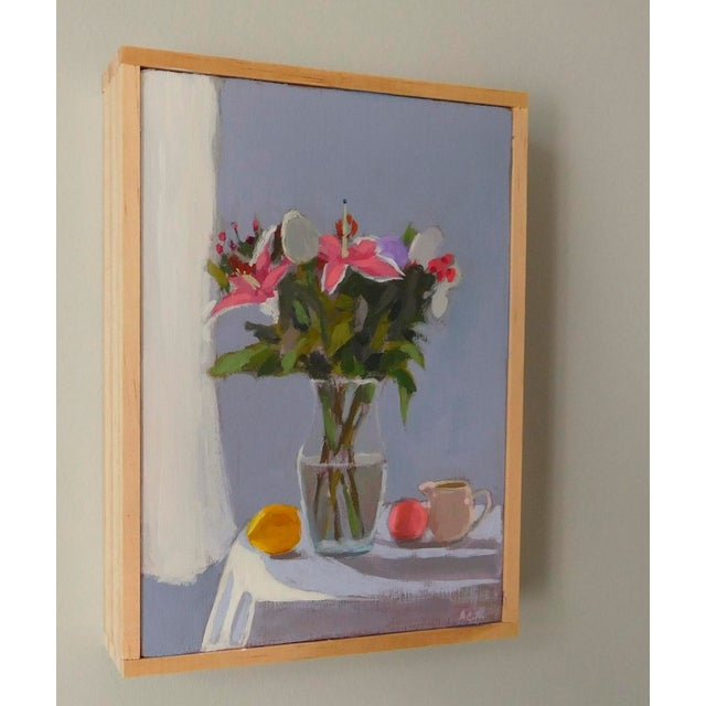 Impressionist Bouquet With Fruit by Anne Carrozza Remick For Sale - Image 3 of 6