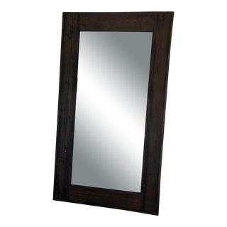 Restoration Hardware Salvaged Boat Wood Leaner Mirror For Sale
