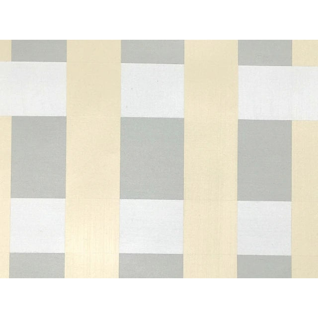 "Abstract Lucas Kelly ""Wop27"" Abstract Light Yellow Grey Painting on Paper For Sale - Image 3 of 4"
