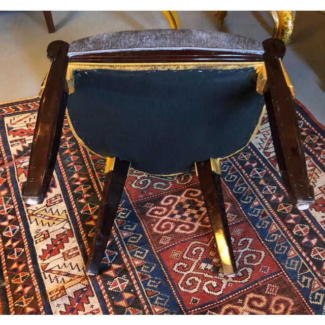 1920s Vintage Sue Et Mare David Weill Art Deco Side Chair For Sale - Image 12 of 13