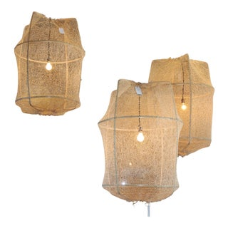 Sisal Net Tea Dyed Pendant Light