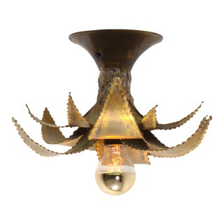Maison Jansen Regency Brass Palm Sconce For Sale