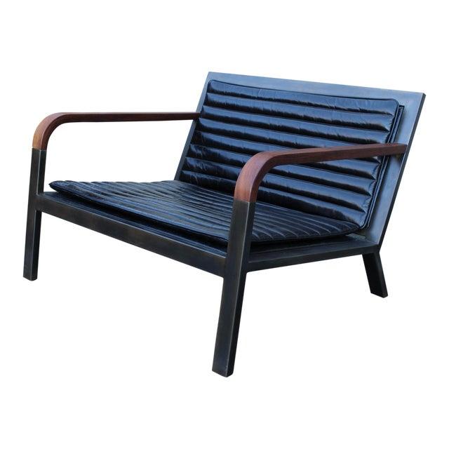 Uhuru Design Breini Black Leather Armchair For Sale