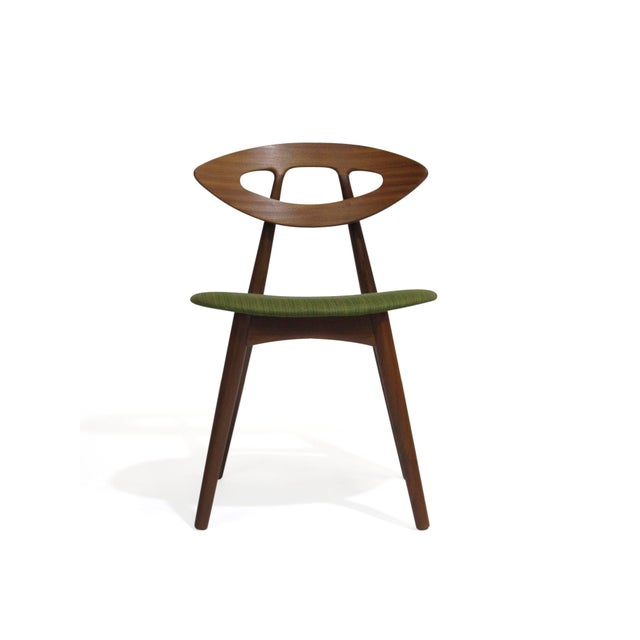 Mid 20th Century Pair of Ejvind a Johansson Danish Eye Chairs For Sale - Image 5 of 13