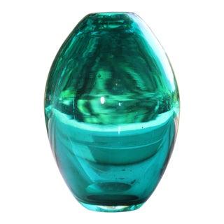 Minimalist Hand Blown Art Glass Vase For Sale