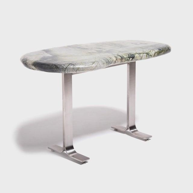 Silver Meditation Stone Top Desk For Sale - Image 8 of 8