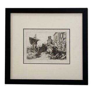 Late 18th Century Rembrandt Etching #11, by Francesco Novelli For Sale