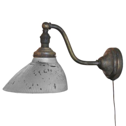Mercury Glass Wall Light For Sale