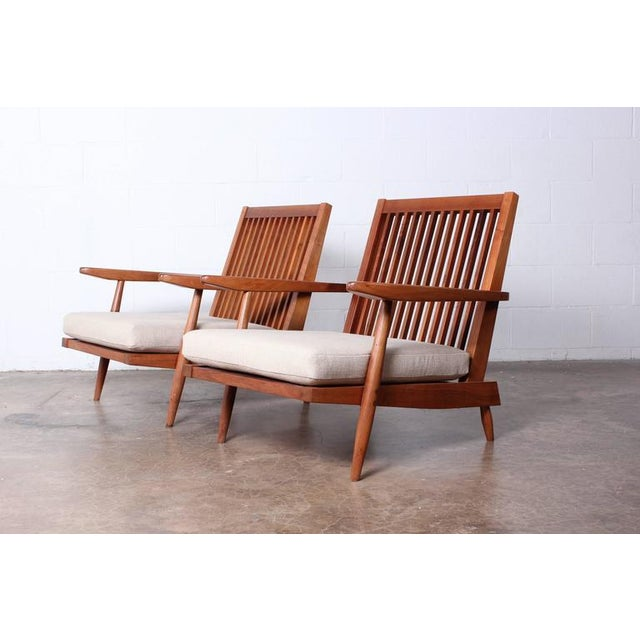 Lovely Pair Of Spindle Back Lounge Chair By George