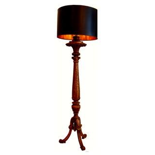 French Napoleon III Gilded Wood Floor Lamp