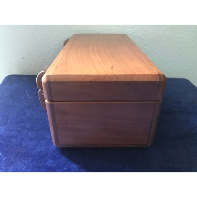 Mid-Century Modern Minimalist Hand Made Wood Vanity Dresser Box For Sale - Image 3 of 9