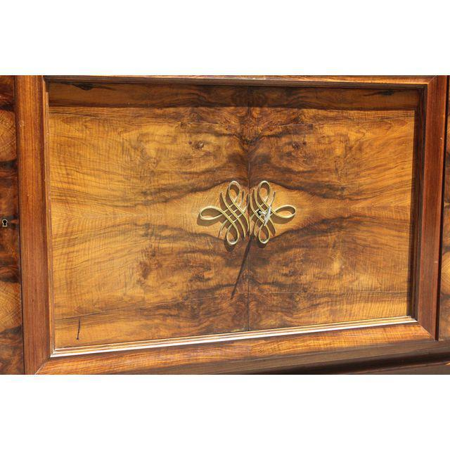 French Art Deco Exotic Walnut Sideboard / Buffet Circa 1940s. For Sale - Image 9 of 10