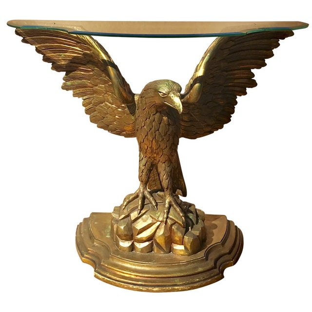Early 20th Century Carved Giltwood Eagle Console For Sale In Tampa - Image 6 of 6