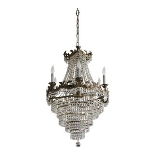 French Empire Style Wedding Cake Crystal Chandelier