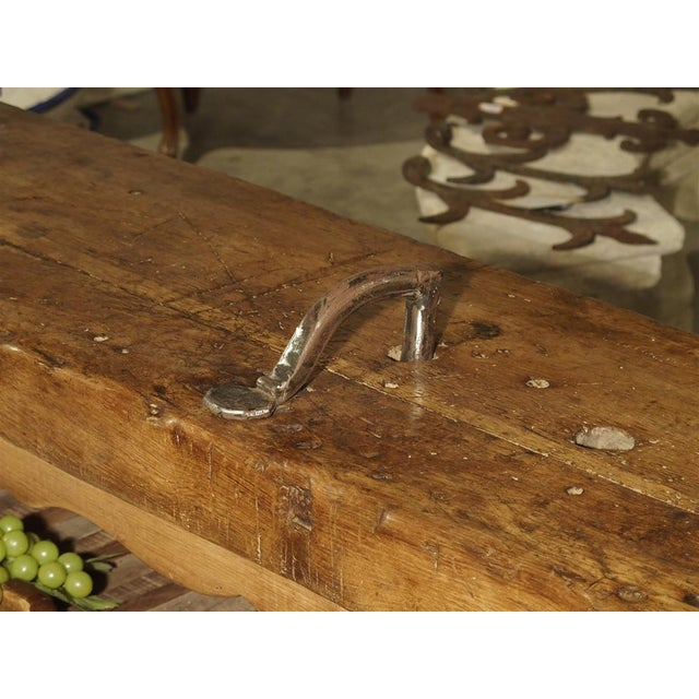"""Antique """"Bourgogne"""" French Wine Carrier Converted From a Workbench For Sale - Image 9 of 13"""