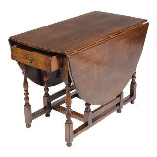1920s English Jacobean Gateleg Table