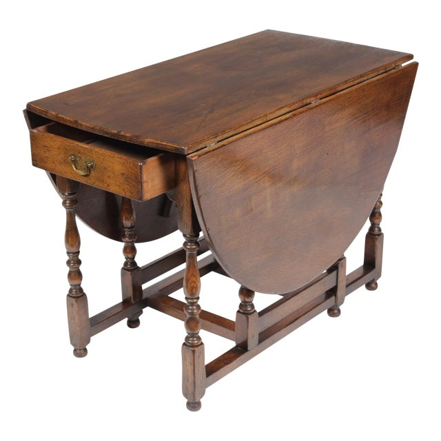 1920s English Jacobean Gateleg Table For Sale