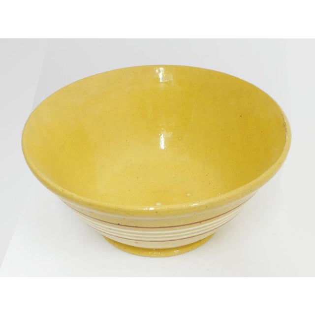 American Antique Yelloware Bowl For Sale - Image 3 of 5