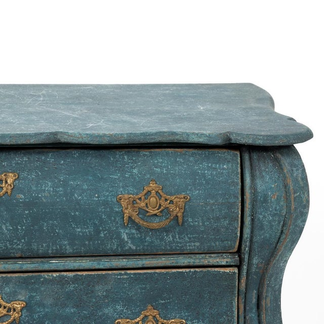 Danish Modern Dutch Blue Bombay Commode For Sale - Image 3 of 11