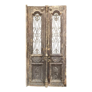 Old Rustic European Container Doors For Sale