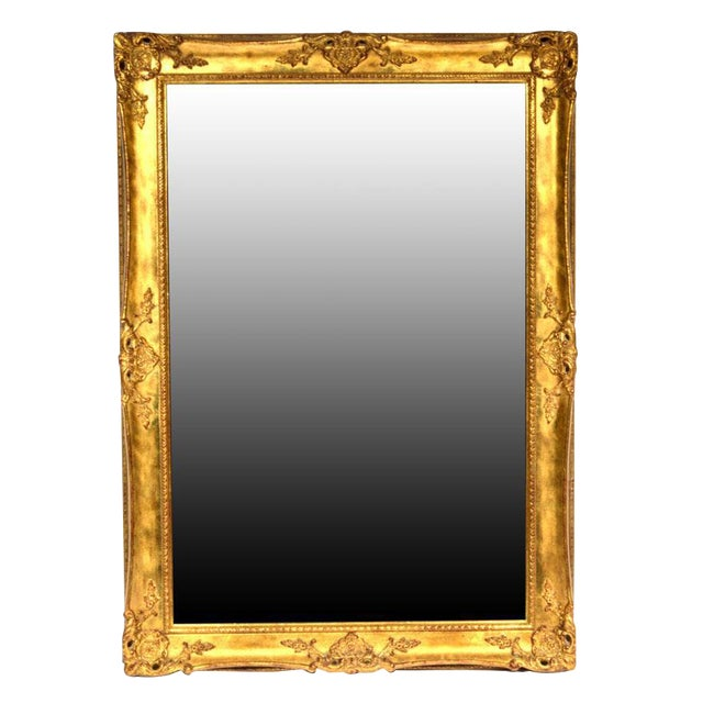Hollywood Regency La Barge Gold Tone Beveled Glass Mirror For Sale