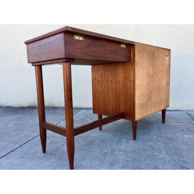 Mid Century Teak Desk and Vanity - Image 11 of 11