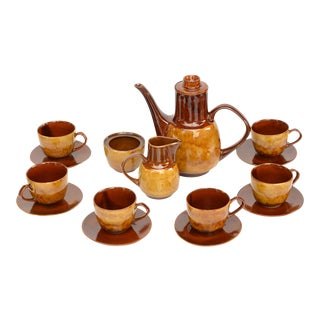 1970s Novi' Coffee Service by A. Sadulski, Mirostowice, Poland - Set of 15 For Sale
