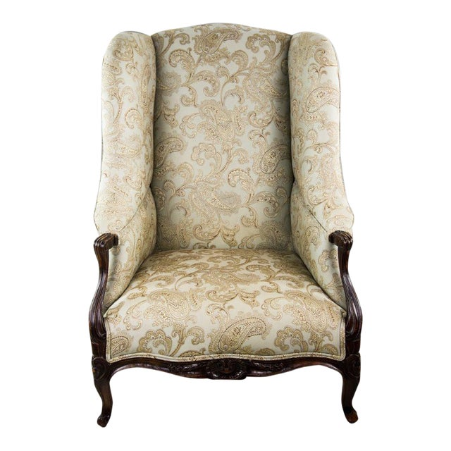 19th C. French Louis XV Style Low Bergere Chair For Sale