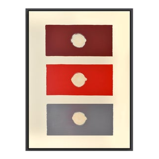 Abstract Red Domino - Framed Print 30x40 For Sale