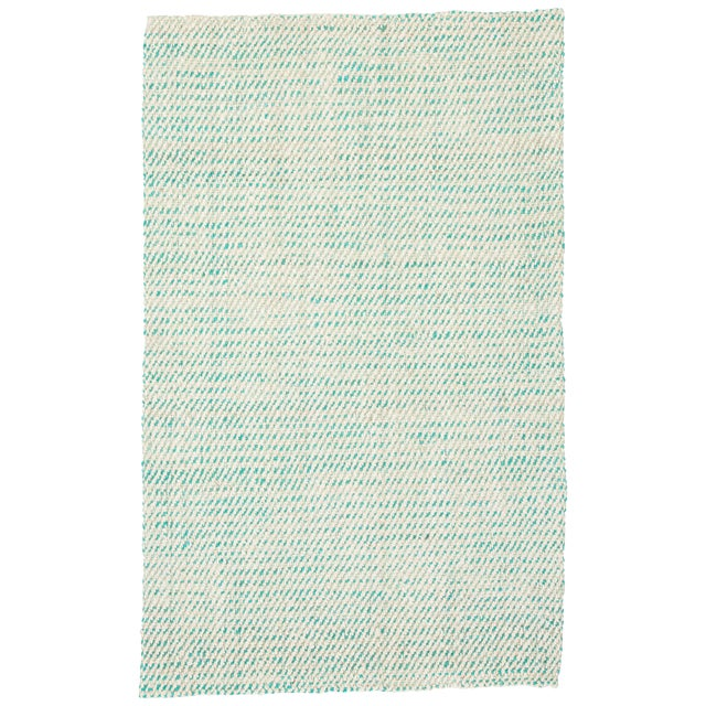 Jaipur Living Almand Natural White/ Aqua Area Rug - 9′ × 12′ For Sale
