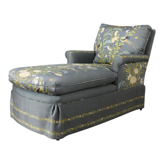 Vintage 1940's Newly Upholstered Double Armed Chaise Lounge - Image 1 of 11