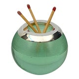 Image of English Green Match Striker With Sterling Silver Rim For Sale