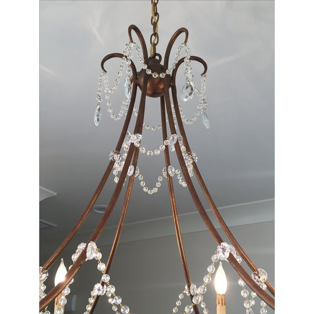 Gold & Crystal Draped Chandelier - Image 3 of 4