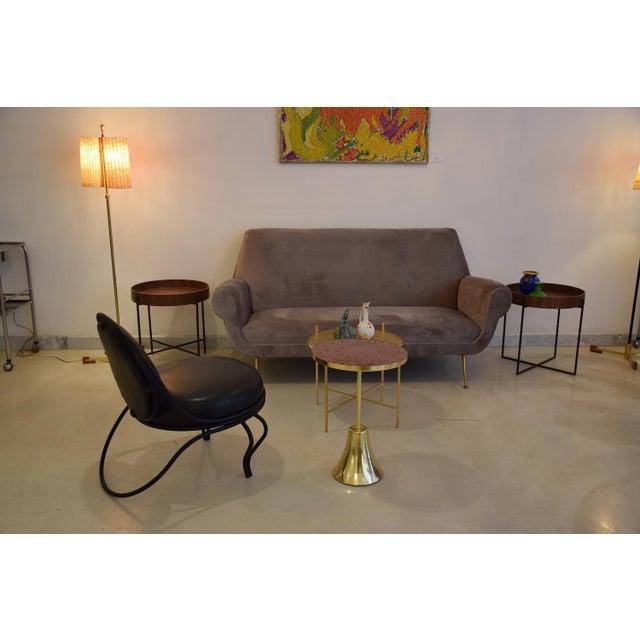 Minotti Italian Mid-Century Modern Velvet Sofa by Gigi Radice for Minotti, 1950s For Sale - Image 4 of 13