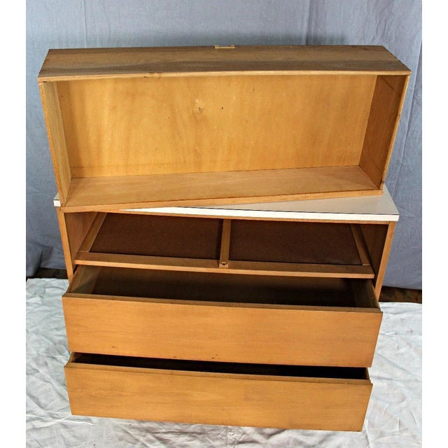 Mid-Century Modern Blond Wood Chest of Drawers - Image 8 of 9