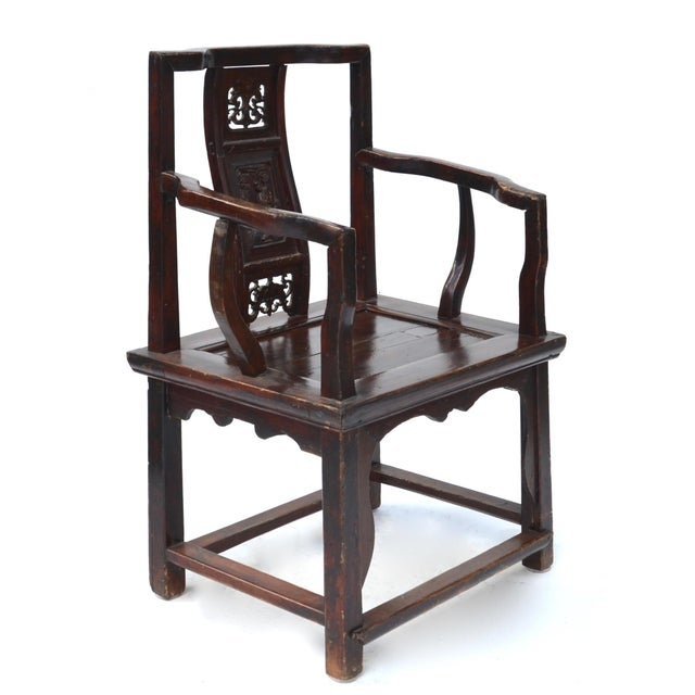 Antique Chinese Wood Carved Chair - Image 3 of 8