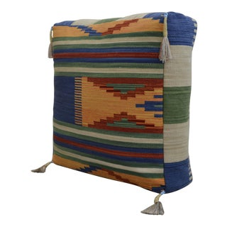 Floor Cushion Turkish Hand Woven Kilim - 28″ X 28″ For Sale