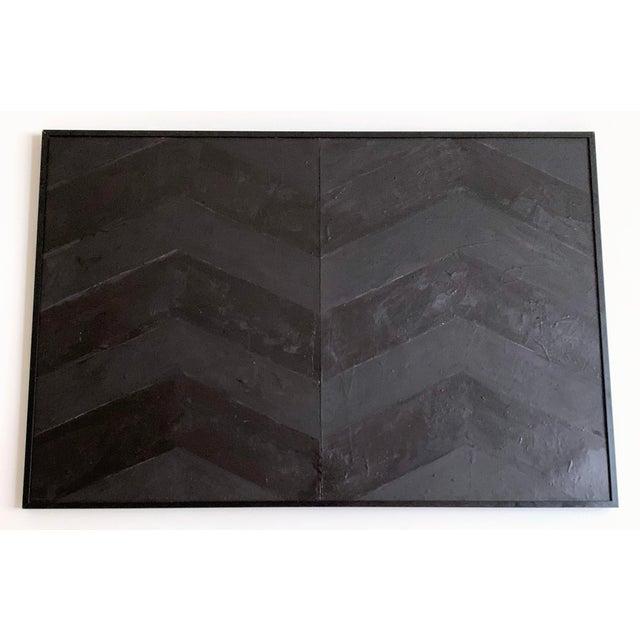 Minimal Black Geometric Painting For Sale - Image 9 of 10