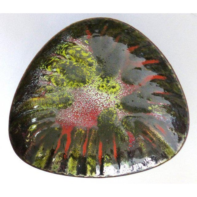 Metal Copper Enameled Abstract Vide Poche For Sale - Image 7 of 7