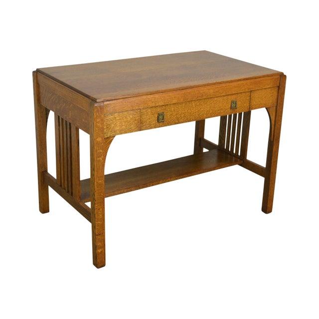 huge selection of af835 f4f61 Mission Style Antique Oak Writing Desk