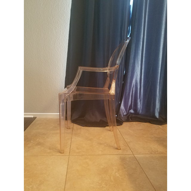 2000 - 2009 4 /Philippe Starck for Kartell Louis Ghost Plastic Arm Chair For Sale - Image 5 of 6