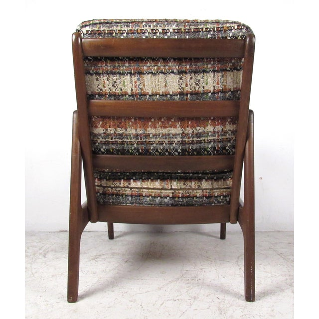 John Stuart Vintage Modern Ole Wanscher Lounge Chair With Ottoman by John Stuart For Sale - Image 4 of 13