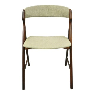 Mid Century Danish Modern T.H. Harlev Farstrup Teak A-Frame Dining Chair For Sale