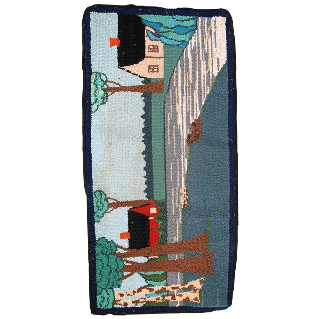 1960s Vintage American Hooked Rug- 1′6″ × 3′ For Sale - Image 10 of 10