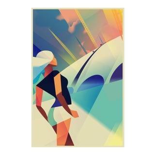 Danish Modern Travel Poster, London O2 Arena