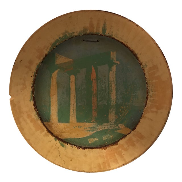 Painted Roman Temple Plate For Sale