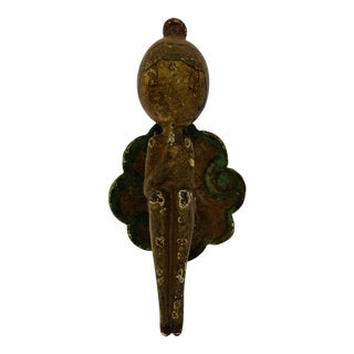 1920's Antique Bathing Beauty Hubley Cast Iron Door Knocker For Sale